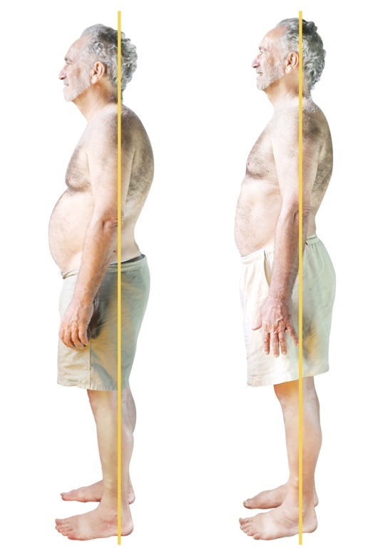 BEFORE Years of belly breathing had created organ protrusion. AFTER Learning the FitAlign resistance breathing techniques in just 3 sessions completely got rid of the pot belly and toned his torso muscles.